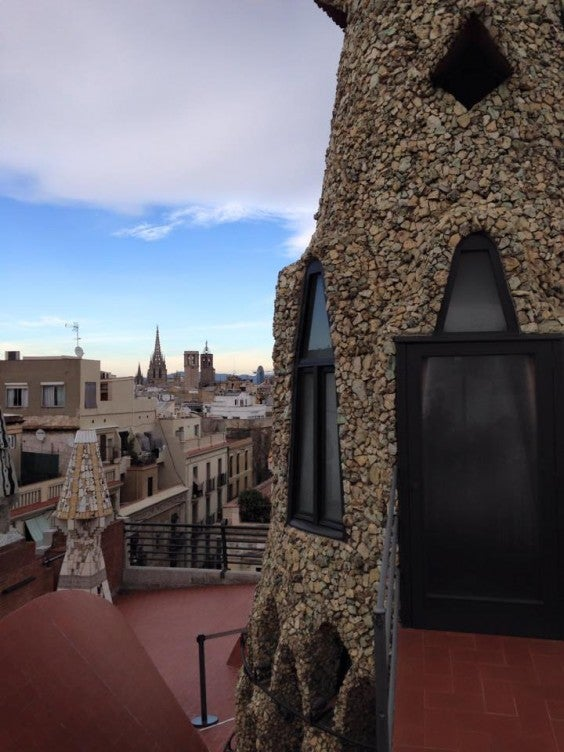palau guell rooftop