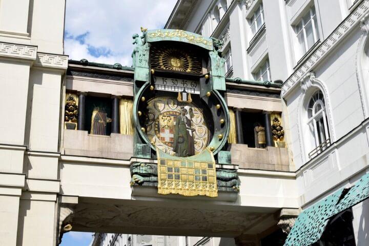 Anker Clock by Franz von Matsch at hoher markt in vienna