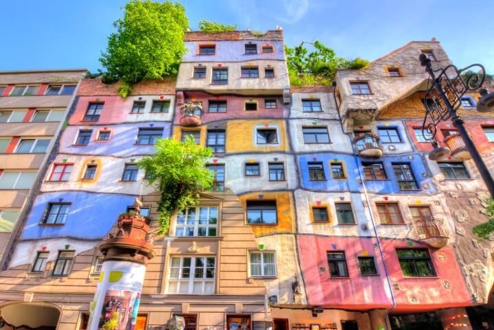 Hundertwasser buildings in vienna