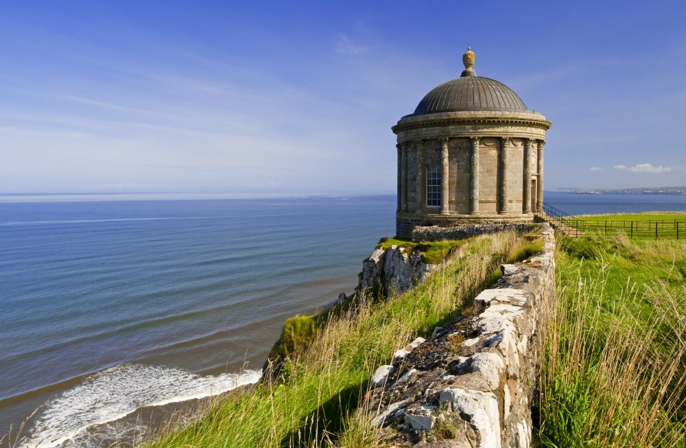 Mussenden Temple on the Downhill beach, Northern Ireland