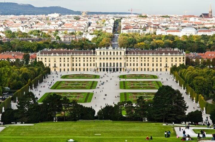 Schönbrunn Palace gardens in vienna