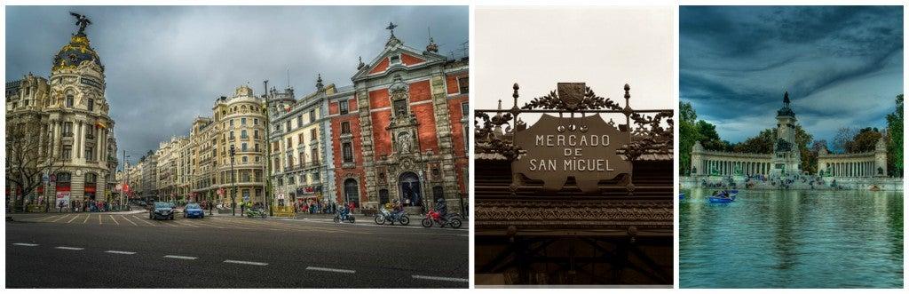 Madrid city, Parque del Buen Retiro and Mercado San Miguel