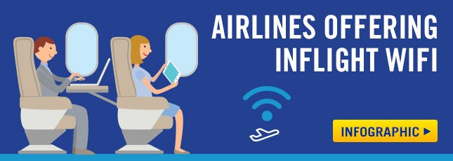 airlines with inflight wifi infographic