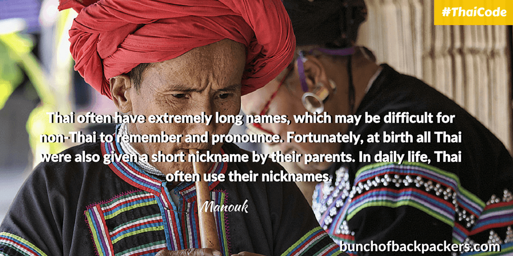 Manouk BoB - Names and Nicknames in Thailand