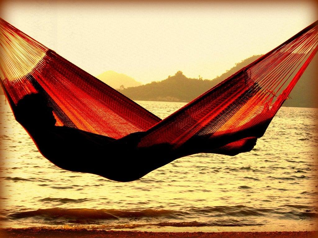man on hammock