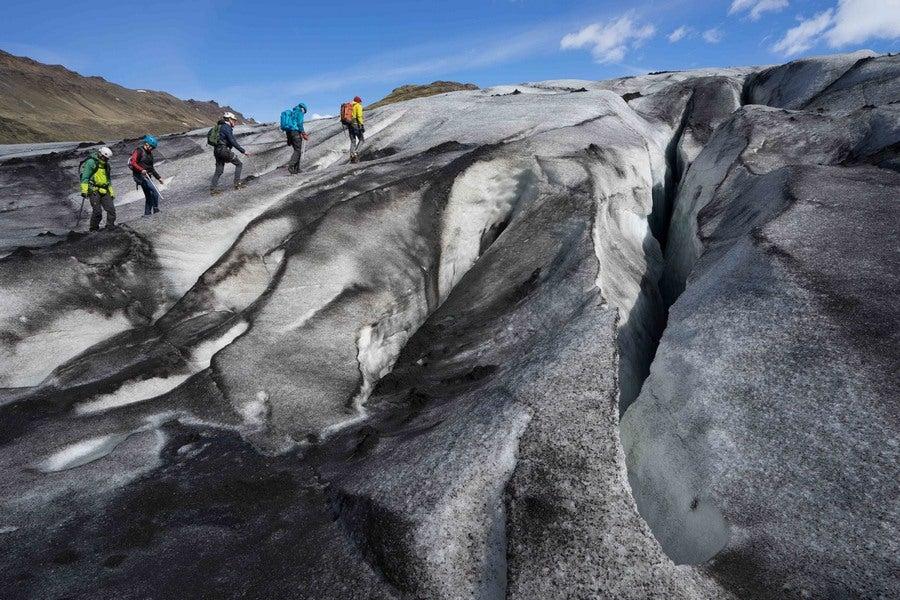 escalada de glaciares
