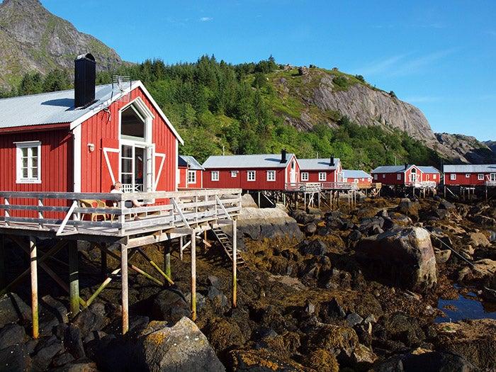 casas de nusfjord en noruega
