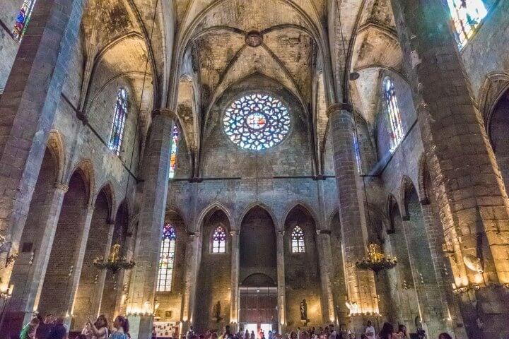 Basilica de Santa Maria del Mar in Barcelona