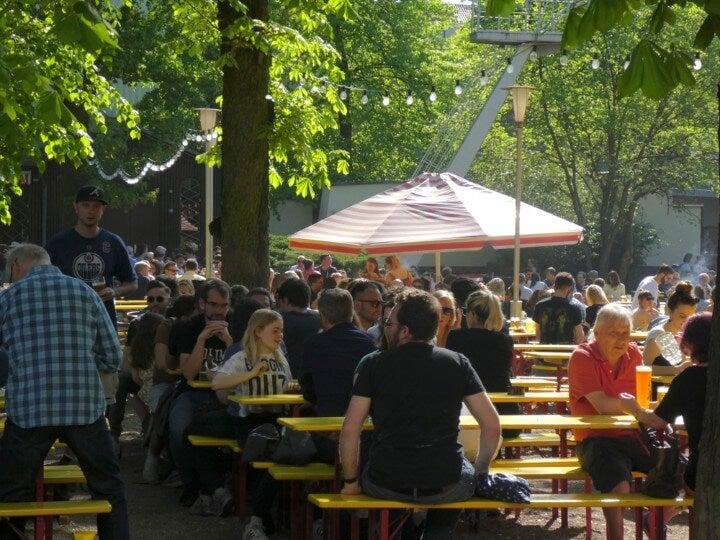Beer garden in Berlin - Germany