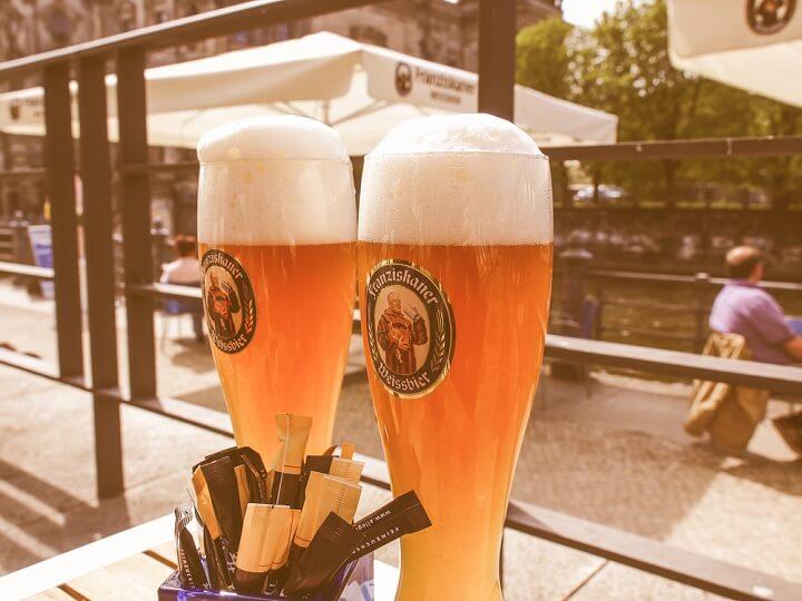 Biergarten beers in Berlin