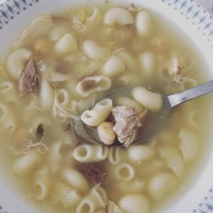 escudella meatball soup