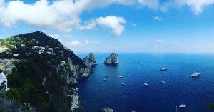 boats off the coast of capri italy
