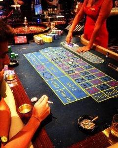 a roulette table at casino malta