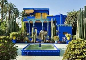 a fountain a jardin morelle marrakech