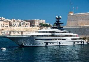a yacht in malta