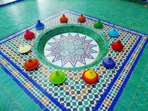 a tile floor at the marrakech museum