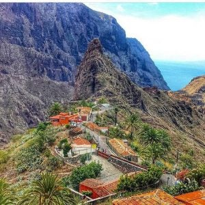a settlement in the masca valley tenerife spain
