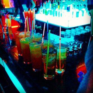 drinks at tramp's in playa de las americas