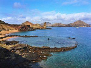 pinnacle rock in the galapagos islands