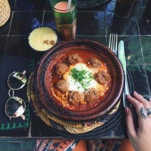 a meatball tagine in marrakech