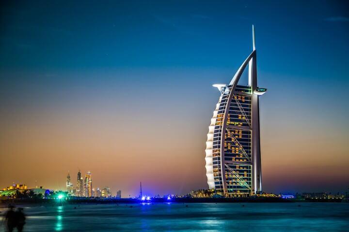 Dubai's Burj Al Arab - 7 star hotel