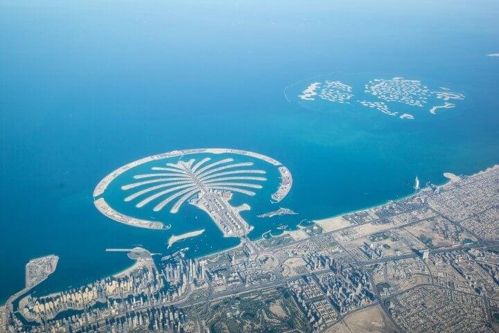 Palm Island in Dubai