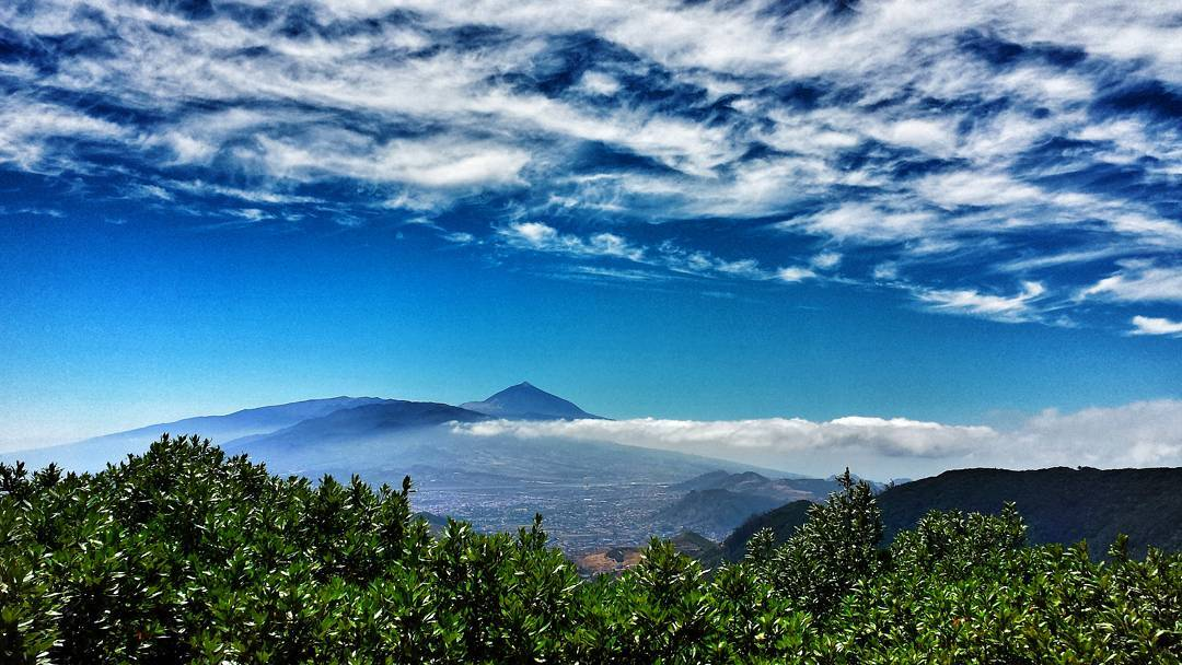 a shot of mount teide near tenerife canary islands