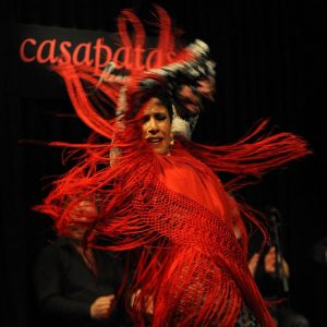 a woman dances flamenco at casa patas madrid