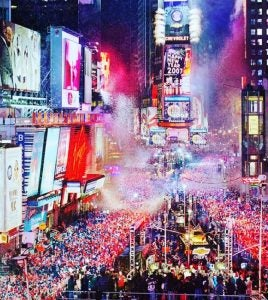 the new year's eve celebration in time square new york