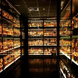 the largest private whiskey collection in the world behind glass at the scotch whiskey experience edinburgh