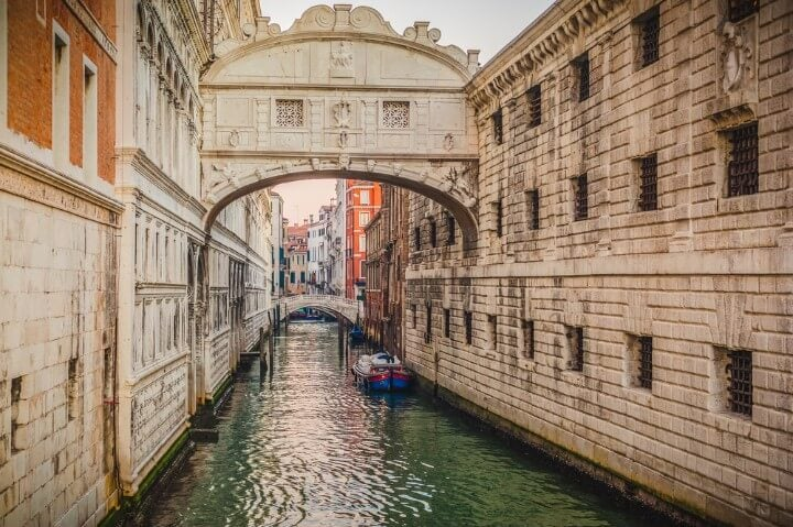 Bridge of Sighs in venice - italy
