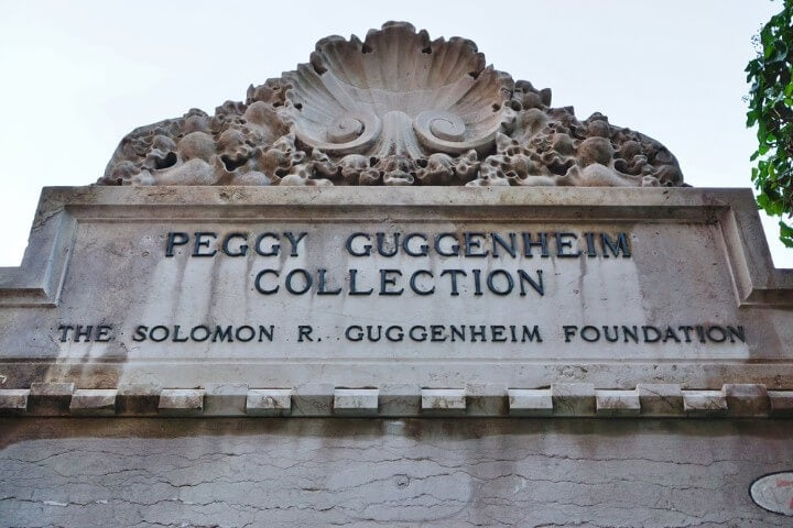 Peggy Guggenheim Collection modern art museum in venice - italy