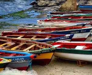 fishermen's boats on cape verde