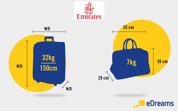 emirates hand luggage and checked baggage allowance