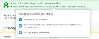 free cancellation edreams