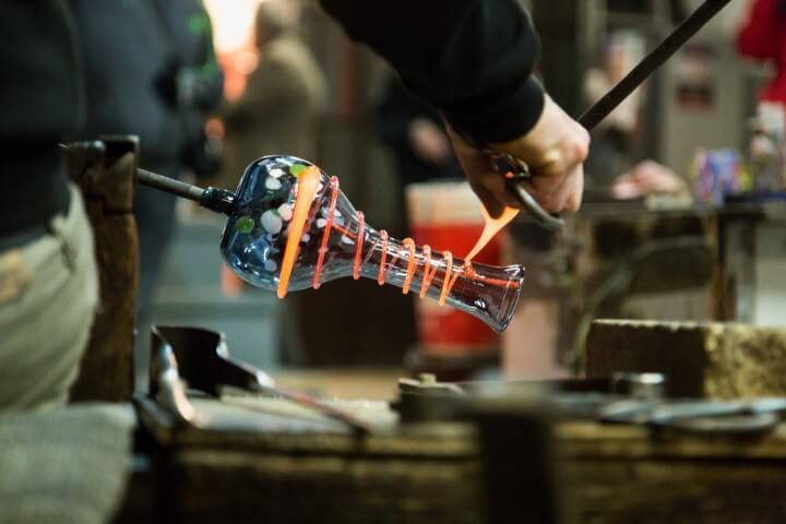 glass blowing studios in murano - venice - italy
