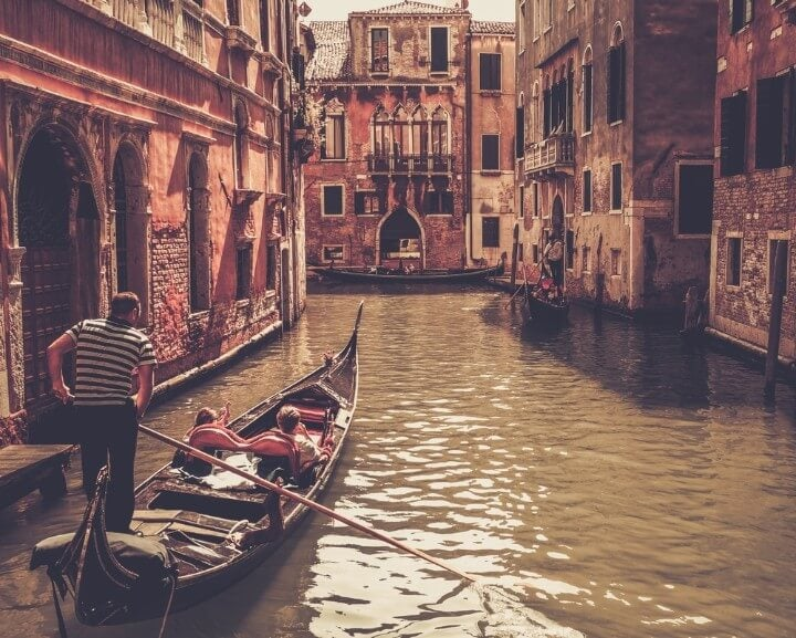gondola ride in venice - italy