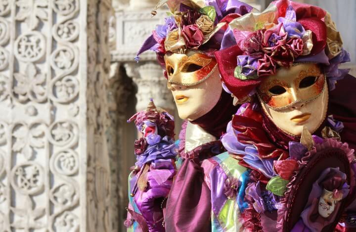 venice carnival masks - italy