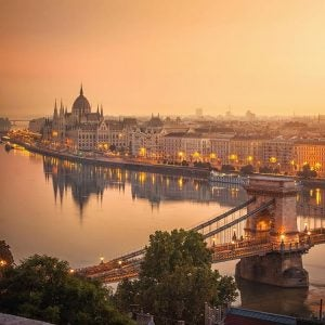 an aerial view of budapest hungary