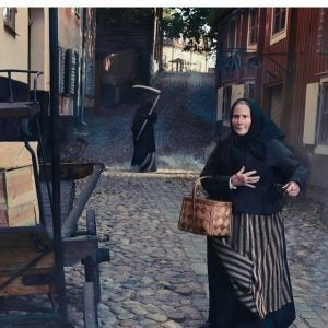 the recreated streets of pre industrial sweden at skansen stockholm