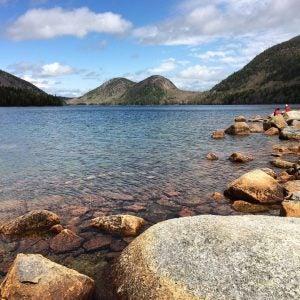 a crystal clear lake at acadia national park