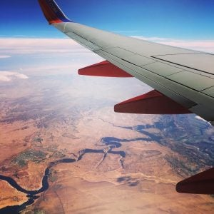 an aerial view of grand canyon national park