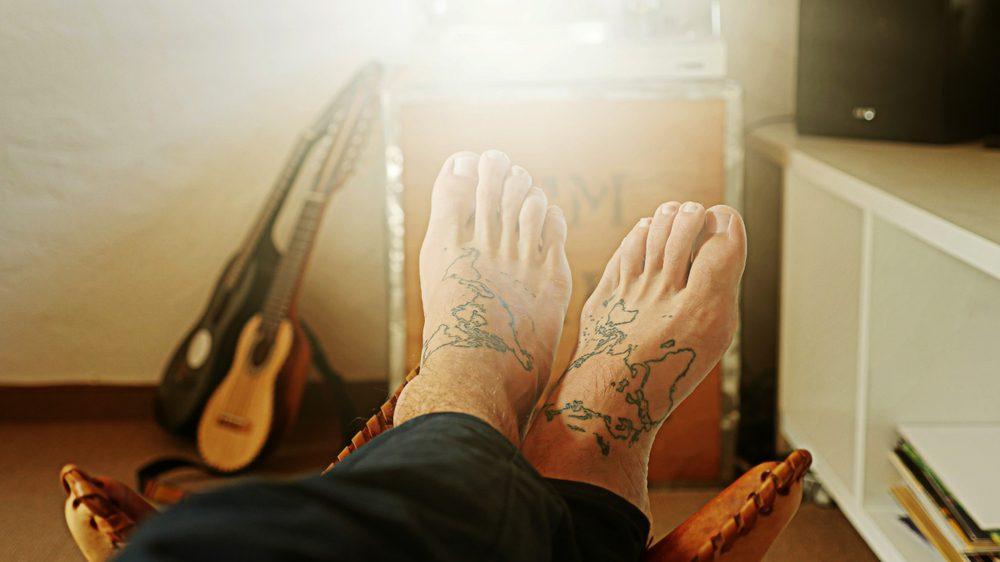 Feet map tattoo