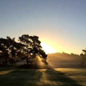 a sunrise at uctrectse golf course