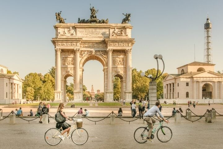 Arch of Peace in Milan - Italy