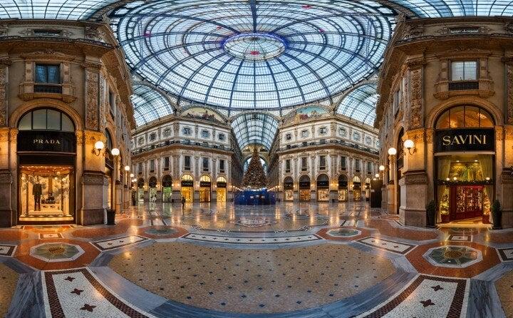 Galleria Vittorio Emanuele II in milan - italy