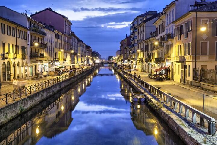 Navigli district in milan - italy