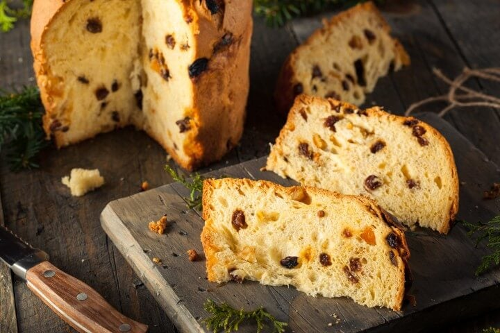 Panettone dessert in Milan - Italy