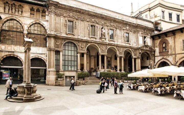 Piazza Mercanti in milan - italy