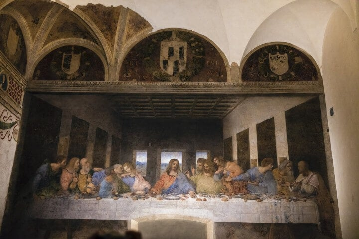 davinci last supper painting in milan - italy